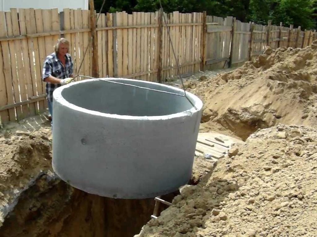 Канализация своими руками из бетонных колец