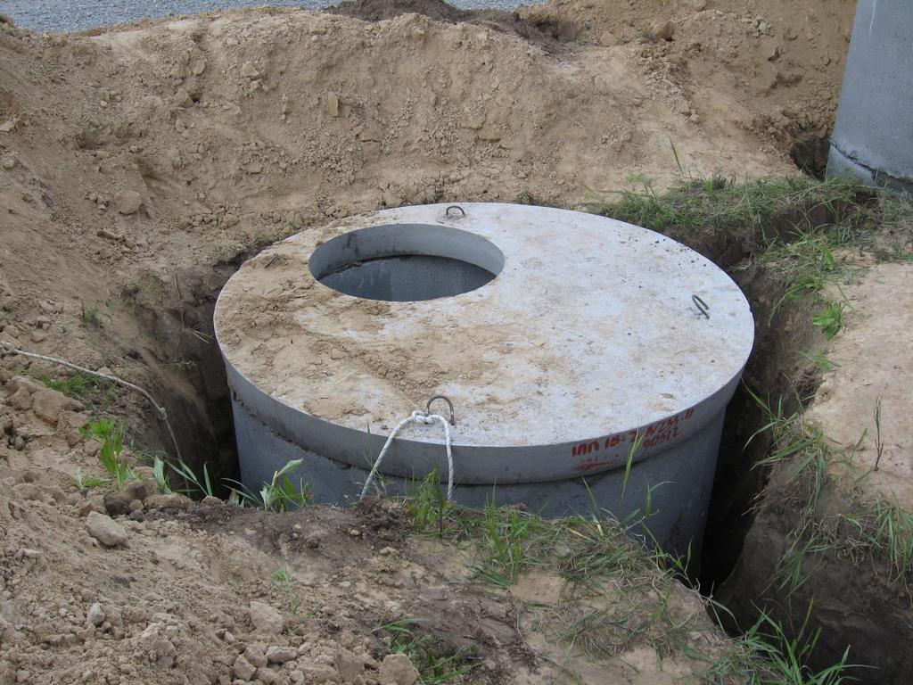 Как сделать канализацию из бетонных колец